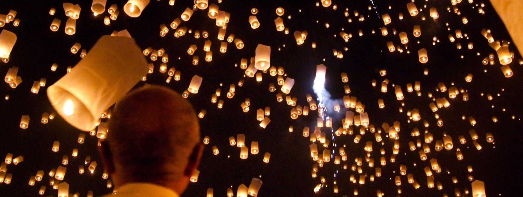 Yi Peng-Sky Lantern Festival of Thailand (Winter Solstice)