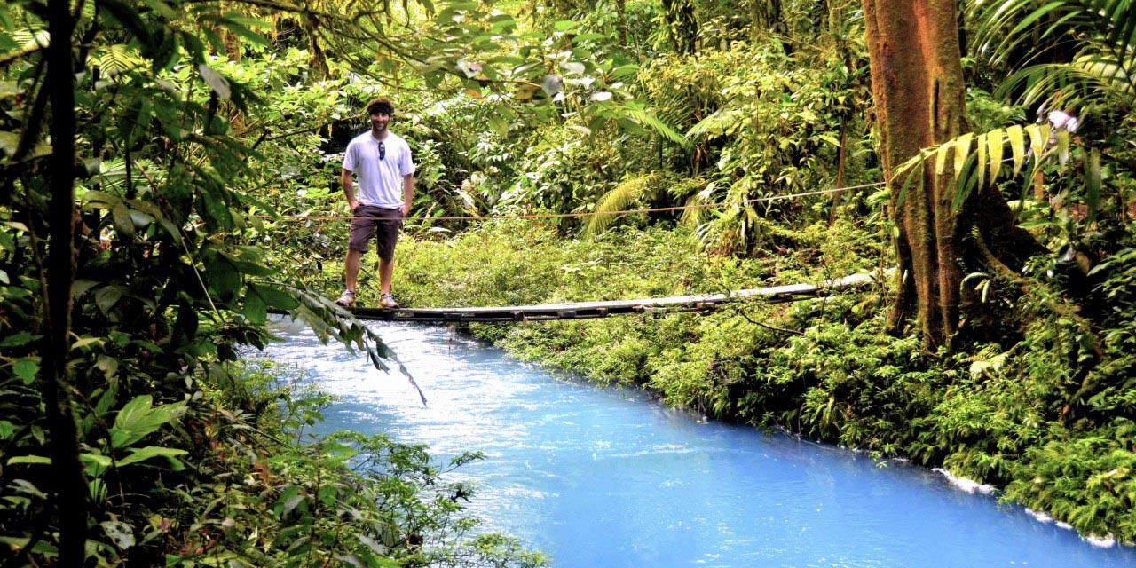 Jared Sternberg on a Jungle Bridge