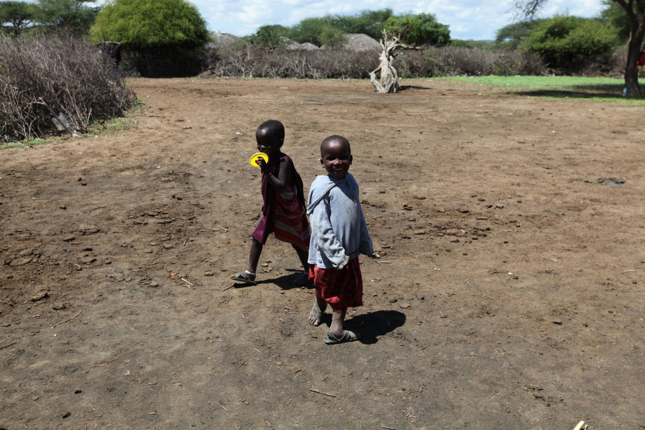 Maasai children at play!