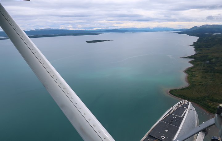 A float plane over Katmailand, Alaska