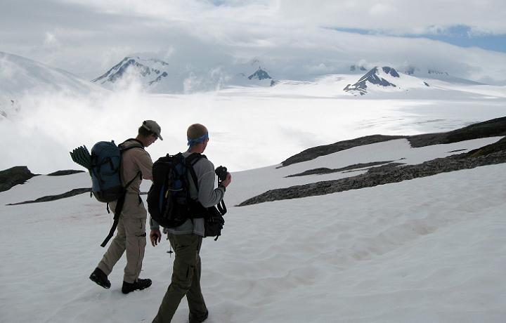 Alaska's famous Harding Icefield Trail