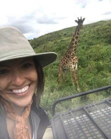 A giraffe selfie in Arusha National Park