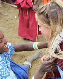 Visiting with the Maasai