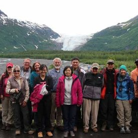 All smiles at Exit glacier in Seward, Alaska.