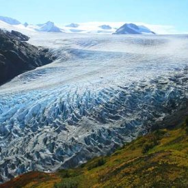 The Harding Ice-field in Seward, Alaska.