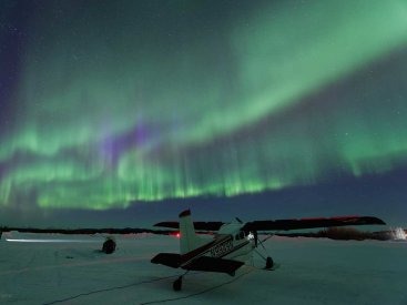 Strong Northern Lights activity in Bettles