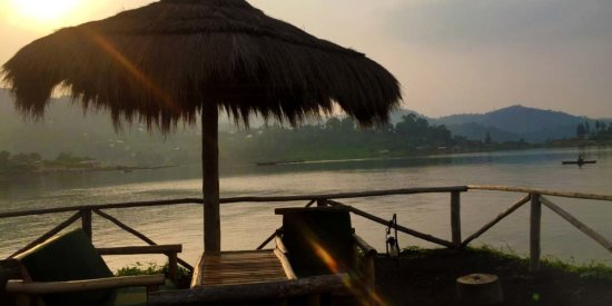 Our breakfast spot at Lake Kivu